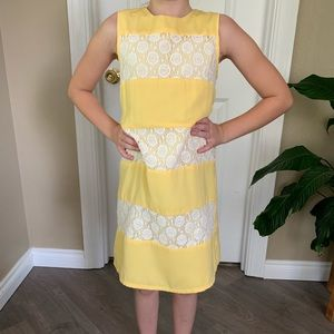 Yellow knee length summer dress. Girl size 10
